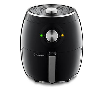 Hommer Healthy Air Fryer, 5.5 Ltrs, 1800W, Black.