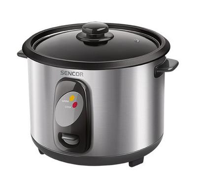 Sencor Rice Cooker With Glass Lid Stainless Steel Body,1.0L, 400W, Stainless.