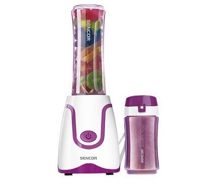 Sencor 2in1 Smoothie Maker Blender Plastic,0.6L,300W, Violet/White