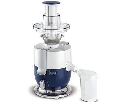 Black+Decker 0.6L Compact Juice Extractor 1000W White/Blue.