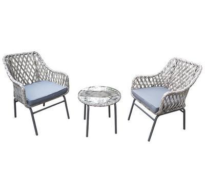 Homez, Aster 3pcs Balcony conversation patio set, steel KD, Beige