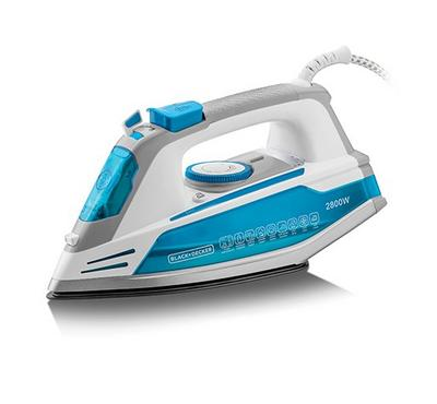 Black+Decker Steam Iron, 2800W, Blue/White.