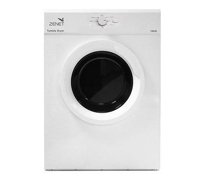 Zenet Vented Tumble Clothes Dryer,10.0KG, 2000W, 7 Programs,White