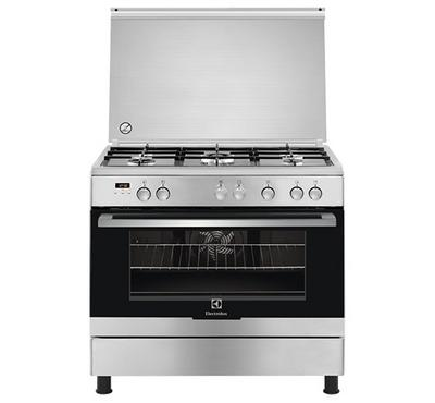 Electrolux 90x60cm Cooker, 5 Gas Burners with safety,Stainless Steel.