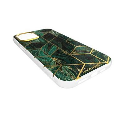 Hyphen Marble Case iPhone 12 Mini, Forest Green