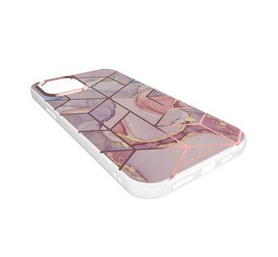 Hyphen Marble Case Cosmic Pink iPhone 12 Mini, Pacific Blue