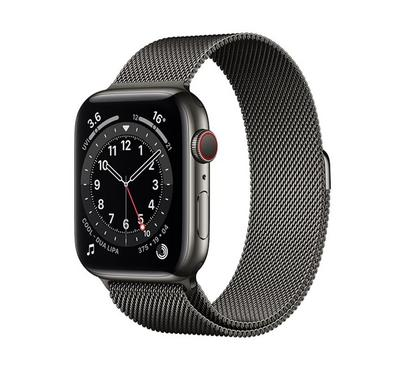 Apple Watch Series 6 GPS + Cellular, 40MM Graphite Stainless Steel Case with Graphite Milanese Loop