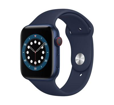Apple Watch Series 6 GPS + Cellular, 44MM Blue Aluminium Case with Deep Navy Sport Band