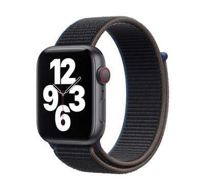 Apple WATCH SE GPS +Cell 44mm Space Gray Aluminum Case With Sport Loop Charcoal Black