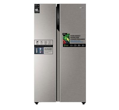 Haier Side by Side Refrigerator, 17.8 Cu.Ft./504 Ltrs,Gray