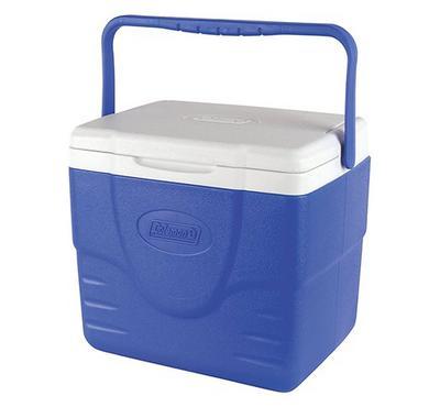 كولمان، ثلاجة، لحمل 9 علب، أبيض وأزرق