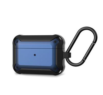 Jinya Armor Protecting Case For Airpods Pro, Black/Blue