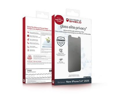 InvisibleShield Glass Elite Privacy with Apple Betty iPhone Mini Screen, Clear