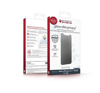 InvisibleShield Glass Elite Privacy with Apple Wilma Barney iPhone 12/12  Pro Screen, Clear