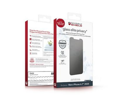 InvisibleShield Glass Elite Privacy with Apple Fred 12 Pro Max Pro Screen, Clear