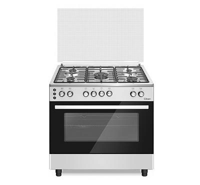 Clikon, 90x60cm Gas Cooking Range With Grill, Silver