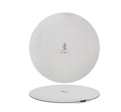 Smart AIRCONNECT PAD+, Wireless Mobile Charging Pad Round Design With iCHIP 15W, White