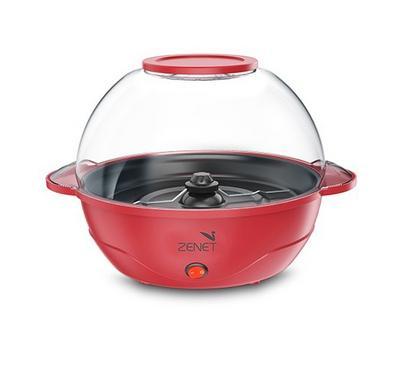 Zenet, Popcorn Maker With Motorized Stirring Rod, 5.5L, 850W, Red