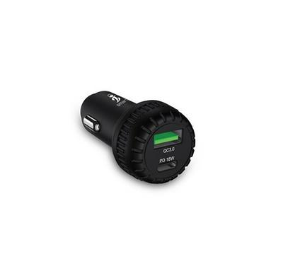 Smart iConnect ONE, QC PD Mobile Car Charger With USB-C Input 18W, Black