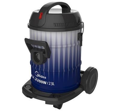 Midea, Vacuum Cleaner Drum Type Steel Body, 2200W, 23.0L, White/Blue