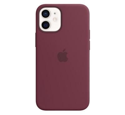 Apple iPhone 12 Mini Silicone Case with MagSafe , Plum