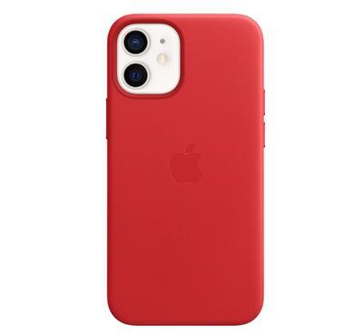 غطاء أبل أيفون  12 ميني  ميج سيف جلد، أحمر
