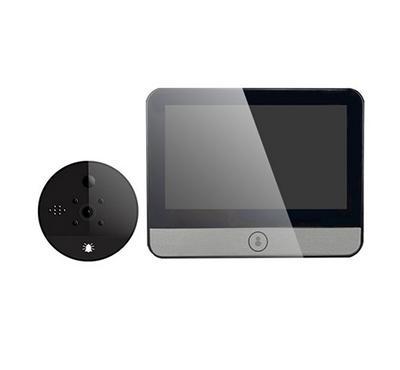 Technical Controls, Smart Door Viewer With 4.3 Inch Ips Display, Black