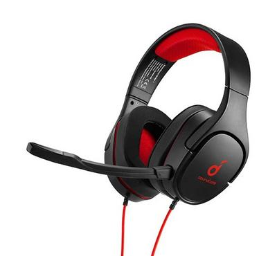 Anker Soundcore Strike 1 Gaming Headset, Auto-Shut Off, Black