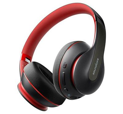 Anker Soundcore Life Q10 Wireless Bluetooth Headphones, Black&Red