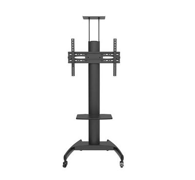 Bluetek TV Floor Stand Upto 75 Inch, Weight Capacity 50 Kg, Vesa 600 x 400, Strong wheels, Black.