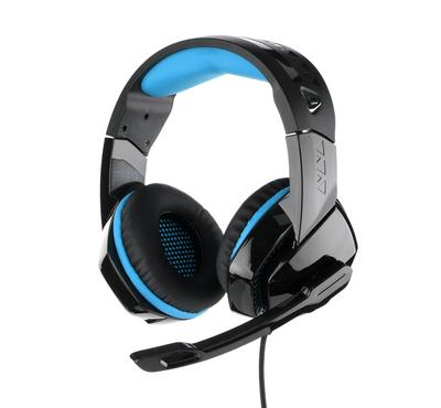 PHOINIKAS, pro gaming headset surrounding with mic for PS4 black and Blue