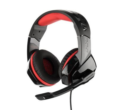 PHOINIKAS, pro gaming headset surrounding with mic for PS4 black and red