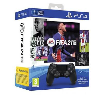 Sony PS4 Fifa 21 Standard Bundle Edition+Controller, Black