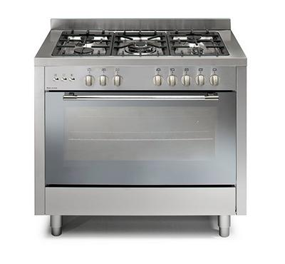 Vicenti Gas Cooking Range,100x60cm, 5 Gas Burner, Stainless Steel.