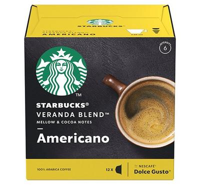 Nescafe Dolce Gusto STARBUCKS Americano Veranda Blend 12 Capsules.
