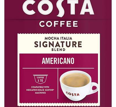 Costa Coffee Americano Mocha Italia Signature Blend 16 Capsules.