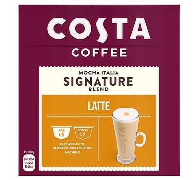 Costa Coffee Latte Mocha Italia Signature Blend 16 Capsules