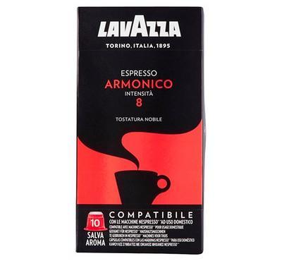 Lavazza Espresso Armonico Intensita 8 Coffee Capsule 10 Pods Red.