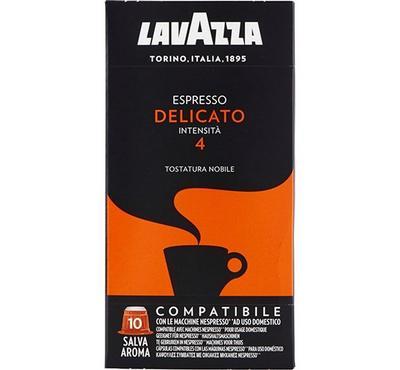 Lavazza Espresso Delicato Intensita 4 Coffee Capsules 10 Pods Orange