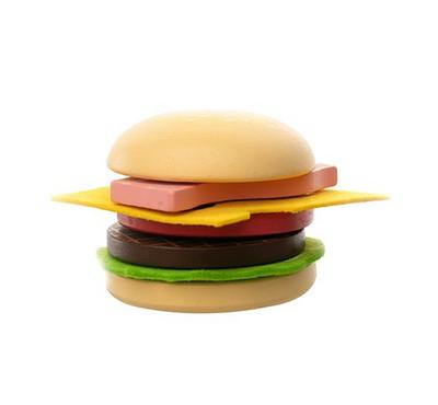 EduFun, 12 pcs Build-A-Burger playset, Beef Burger & Vegetarian Burger