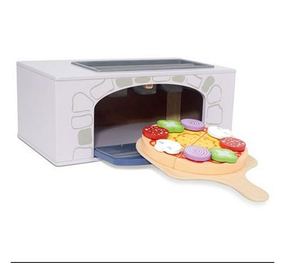 EduFun, Play pizza oven with 4pc pizza, 1 pan, 1 cutter, 8pc dressing