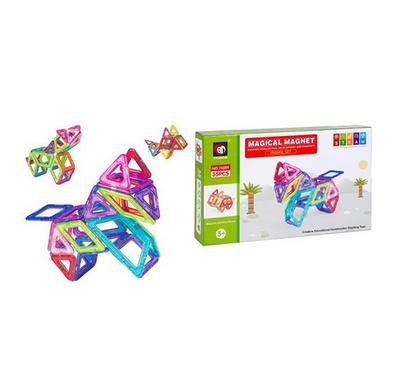 SaudiToys, 35 pieces of magnetic shapes with multiple sizes
