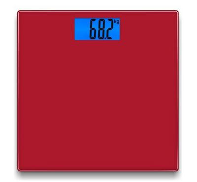 North Bayou NB, Digital Glass Bathroom Scale, 180KG Max, Red