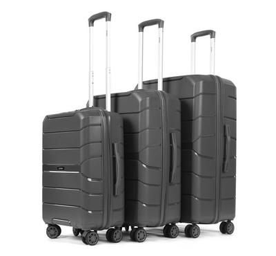 PP Set Of 3 Luggage Trolley Case, 20/24/28,Grey