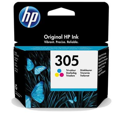 HP 305 Tri-Color Original Ink Cartridge 100 Pages Yield