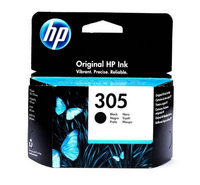 HP 305 Black Original Ink Cartridge 120 Pages Yield