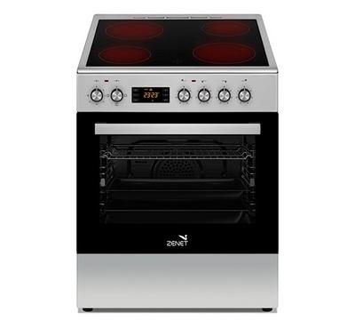 Zenet 60x60 Vitro Ceramic Cooking Range With Convection 5800W Silver