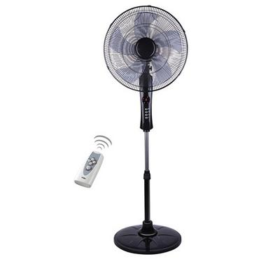 Clikon Electric Stand Fan With Remote & LED Display, 16-Inch, 65W, Black