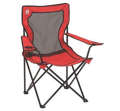 Coleman Quad Chair Broadband Mesh, Red.