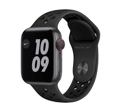 Apple Watch Nike Series 6 GPS + Cellular, 40MM Space Grey Aluminium Case with Anthracite/Black Nike